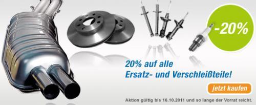 AutoteileStore.com: Versandkostenfreie Lieferung und 20% Rabatt auf Ersatz- und Verschleißteile +Cashback