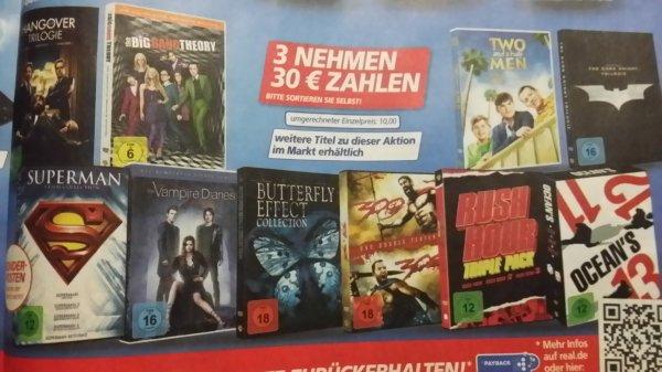 Real ( Bundesweit? ) verschiedene DVD - Boxen. 3 nehmen 30€ zahlen