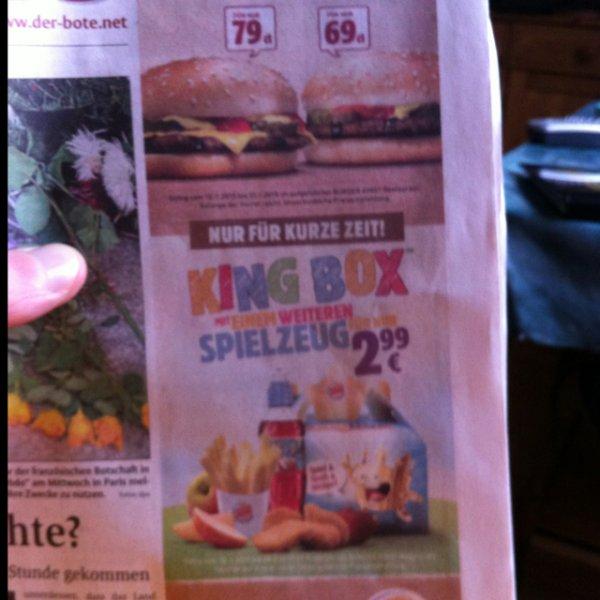 [Lokal Lüdenscheid] Burger King Cheeseburger 79cent