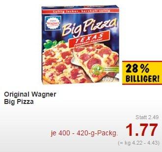 [Kaufland] Wagner Big Pizza versch. Sorten (fast bundesweit) für 1,77€