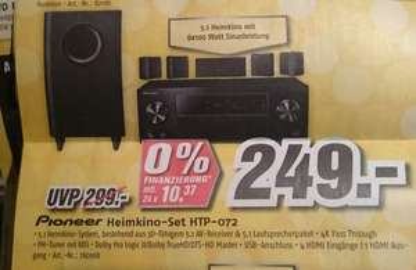 Pioneer HTP-072 Heimkino 5.1 Set bei MEDIMAX offline