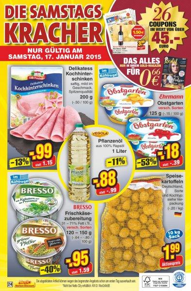 Ehrmann Obstgarten - Samstagskracher bei Netto Marken-Discount - 17.1.2015 - 0,18 €