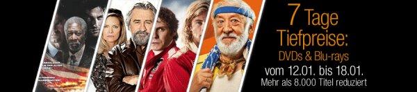 7 Tage Tiefpreise bei Amazon(Prime), u.a. mit Blu-rays ab 4,97 EUR, DVDs ab 4,97 EUR, Steelbooks unter 10 EUR, uvm.