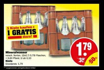 [NP Discounter - lokal?] 2 Kisten Mineralwasser 12x0,7L/0,75L [Dessau-Roßlau]