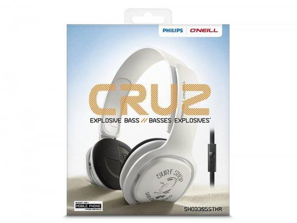[eBay WOW] Philips O'Neill Kopfhörer mit Bügel SHO3305STKR, On-Ear-Headset, Klinke, weiß