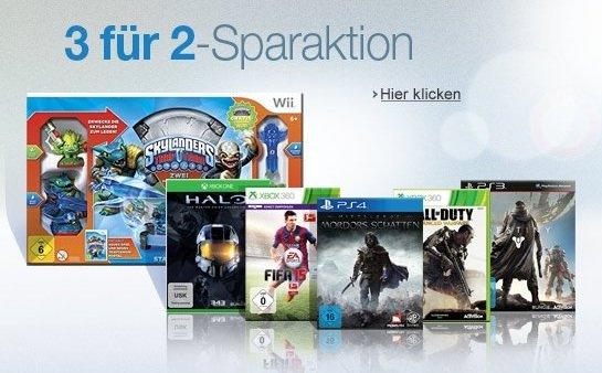 [Amazon] 3 für 2 Sparaktion: 3 Games kaufen, nur 2 zahlen mit Halo, Forza und Mordor XBox One u.A.