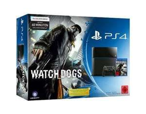 Sony PlayStation 4 500GB schwarz Watch Dogs Bundle inkl. Dual Shock Controller