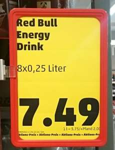 Red Bull 8x 250 ml bei Penny (lokal?)