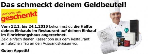 [IKEA Butzweilerhof] 50% der Restaurantrechnung als Gutschein