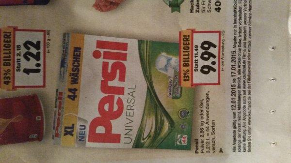 [Kaufland] Persil Universal Pulver 2,86 kg (44 WL) für 9,99 € (=> 0,23 € pro WL)