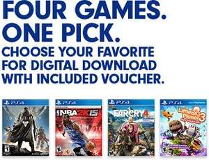 Far Cry 4 (PS4), Destiny (PS4), Little Big Planet 3 (PS4) oder NBA 2k15 (PS4) als Download Code für je ~24,92 Euro
