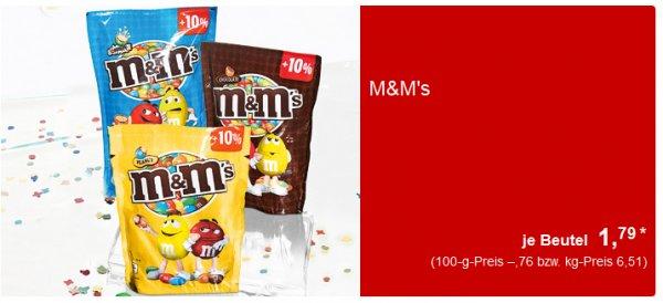 [Aldi-Süd] M&M's je Beutel 1,79 €/(235g/275g)