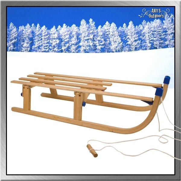 Davoser Faltschlitten Falt- Kinderschlitten Holzschlitten Rodel Original Davos 110 Rodel