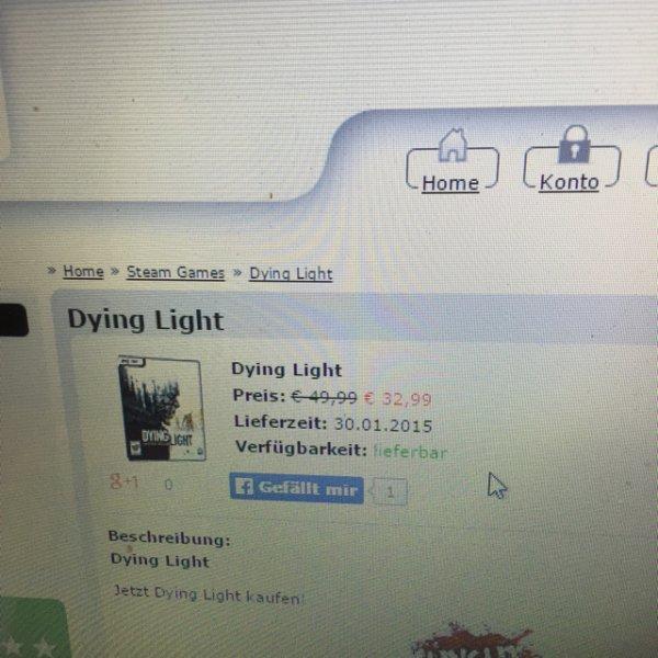 Dying light Pc Key für 32,99€ MMOGA