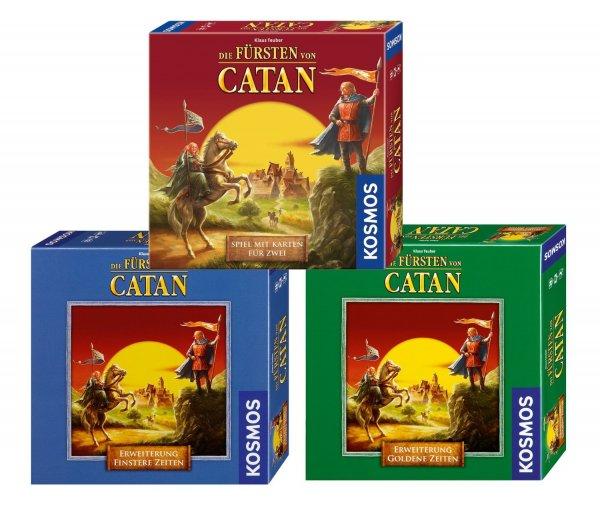 [Amazon PRIME] Kosmos - Bundle - Die Fürsten von Catan, Erweiterungen Finstere Zeiten und Goldene Zeiten für 20,94€