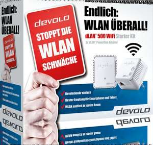 [Comtech] Devolo dLAN 500 WIFI Starter Kit 69 € VSK frei(PayPal, Amazon-Payment, Vorkasse...)