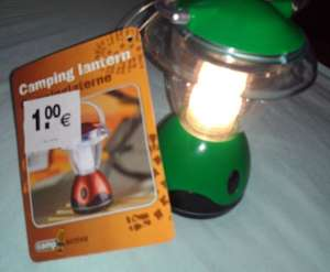 Camping Laterne  local@Woolworth für 1 €