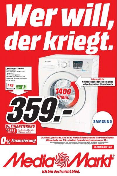 [Lokal MediaMarkt München-Einsteinstraße] Samsung Waschmaschine WF70F5E0R4W
