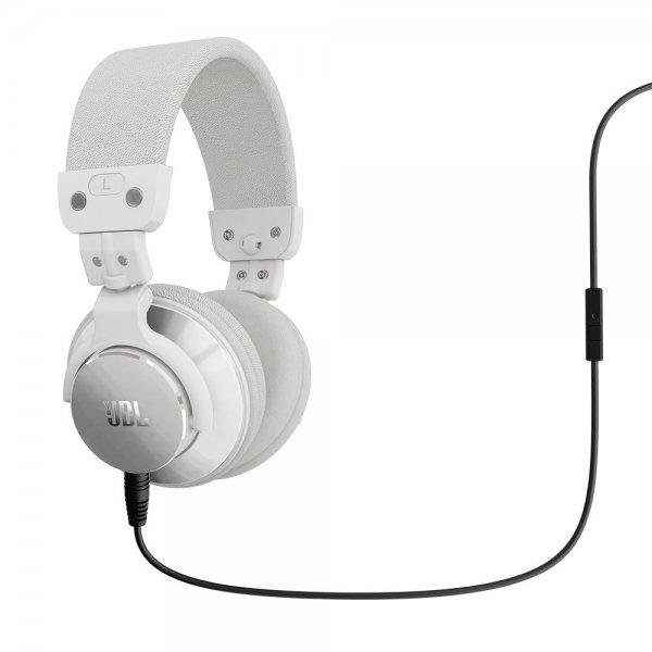 JBL Bassline DJ On-Ear-Kopfhörer mit 1-Knopf Fernbedienung und Mikrofon weiß