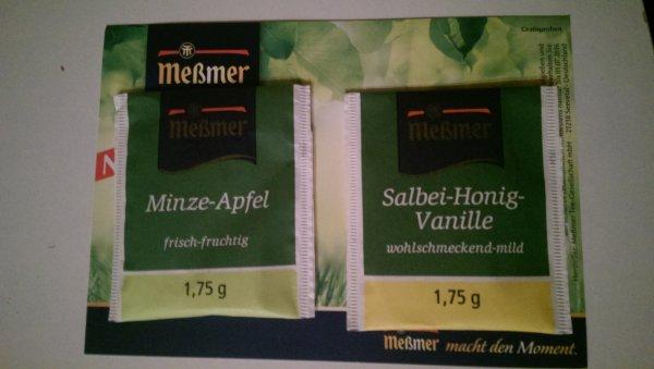 [HIT] Meßmer Tee Salbei-Honig-Vanille + Minze-Apfel (Lokal Lüdenscheid?)