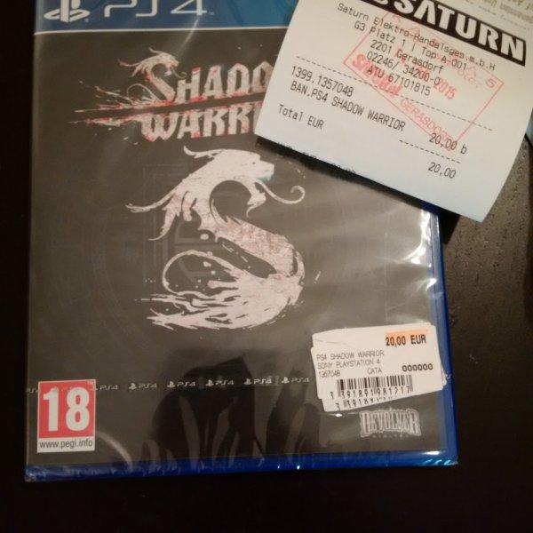 *SHADOW WARRIOR* PS4 20€ Österreich: Saturn G3 Shopping Gerasdorf