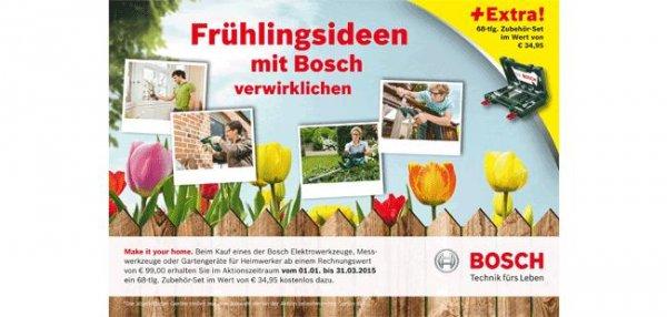 Bosch Elektrowerkzeug für 99,- €uro kaufen = Gratis Zubehörkoffer für 34,95,- €uro dazu