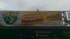 Roasted Chicken Sub (15cm) @ Subway Wiesbaden (Lokal!)