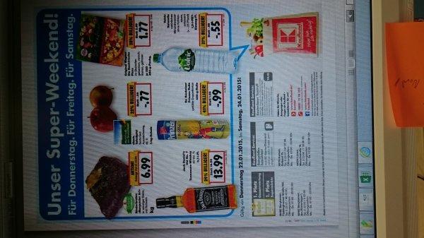 Kaufland NRW Super Weekend Jack Daniels 13,99 € Prinzen Rolle 0,99 € Volvic 0,55 € Wagner die Backfrische Pizza 1,77 €