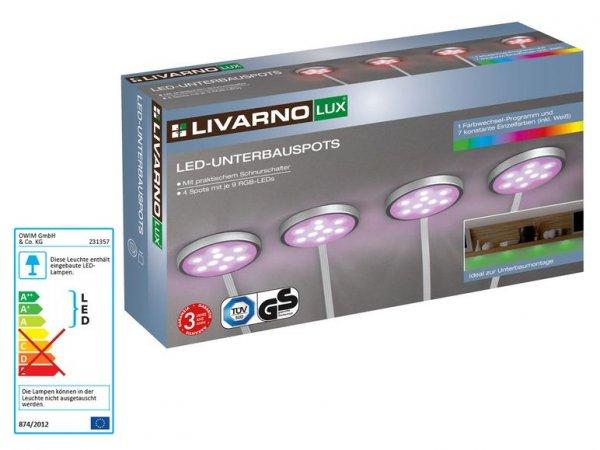 LIVARNO LUX® LED-Unterbauspots 4x Set 3 Jahre Garantie [In LIDL Filialen]