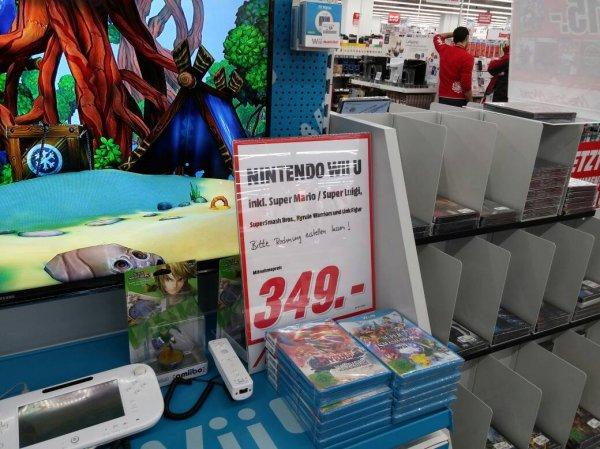 [Lokal MM Ingolstadt] Wii U Prem + Super Mario Bros + Luigi + Hyrule Warrior + SSB U + Link Amiibo 349€