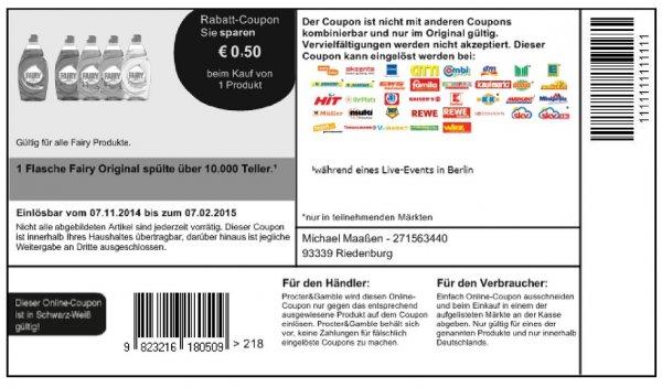 Bundesweit Globus mit Coupon von For Me Fairy für 0,49€