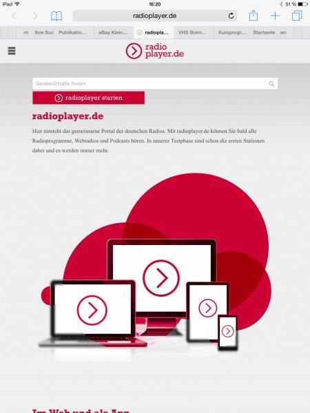 'Radioplayer Deutschland' App für iOS, Android und Windows ist ab sofort kostenlos verfügbar