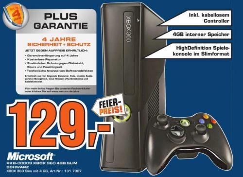 Lokal @Gummersbach: XBOX 360 SLIM 4GB für 129,- Euro