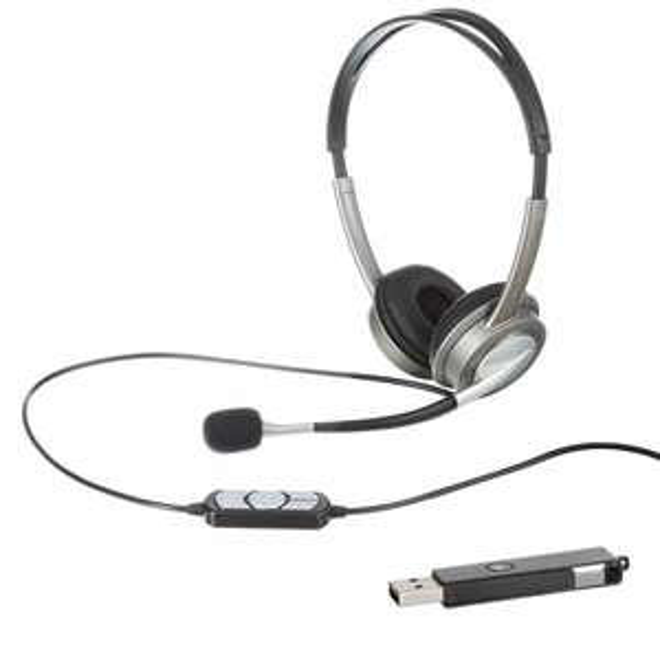 Headset für PC Computer Laptop Kopfhörer Mikrofon MP3 + 4GB USB-Stick