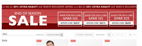 Frontlineshop.de - 'Bis zu 20% Extra Rabatt auf reduzierte Artikel!'