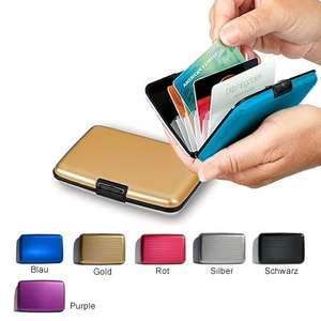 Alu Wallet Kreditkarten Etui Geldbörse, Doppelpack, 13,85 EUR inkl. Versand @ eltronics