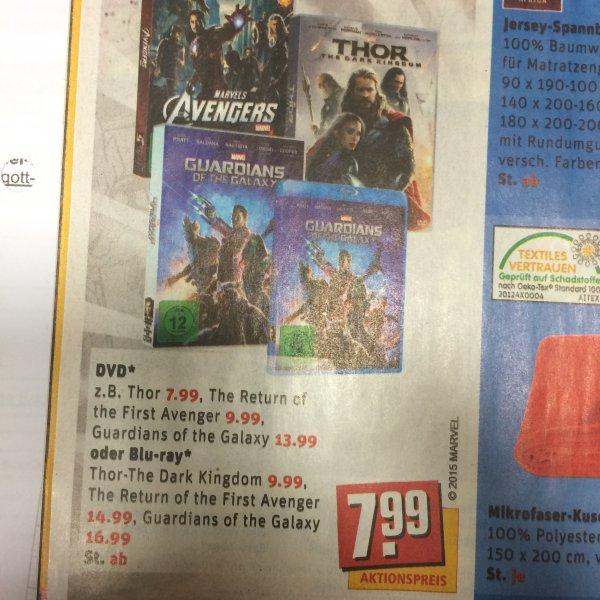 Marvel DvD/BluRays z.B Thor-The Dark Kingdom für 9,99!!! @REWE Bundesweit
