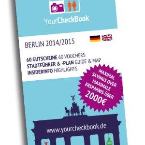 YourCheckBook: Reiseführer Berlin mit 60 Gutscheinen (bis zu 50%)  14,45 Euro