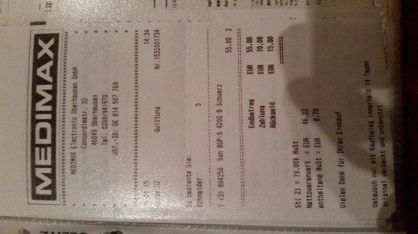 Sony BDP-S4200 bei MediMax Oberhausen 55€