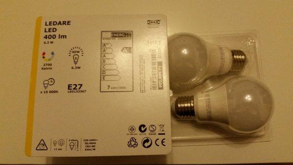 [lokal] DOPPEL-Pack LED LEDARE E27 / 400lm / 6,3W bei IKEA Kamen (entspricht 2,50€/LED)