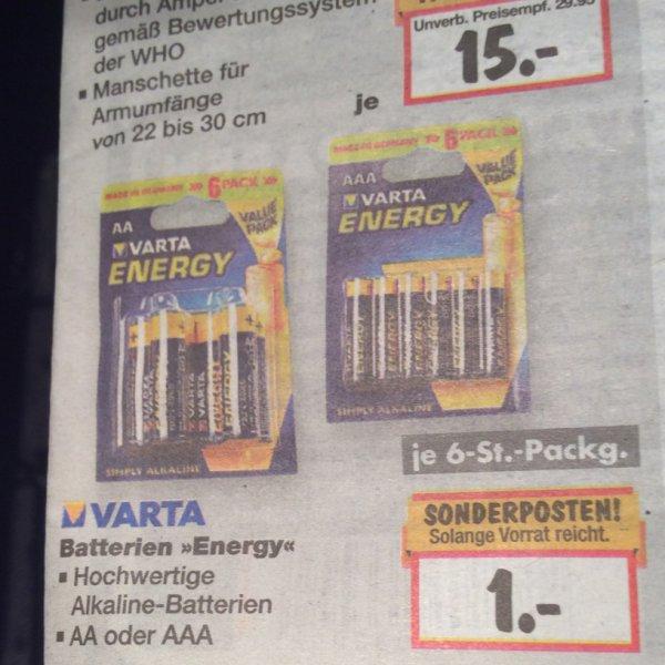 Varta Energy AA oder AAA 6stk.