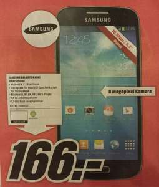 Samsung Galaxy S4 Mini [Lokal Würzburg] Idealo 202,-