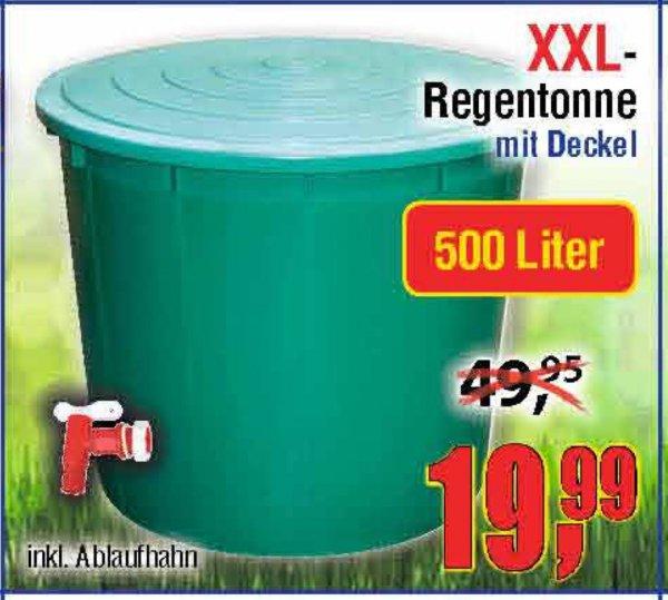 [Centershop] XXL Regentonne 500l mit Deckel und Hahn 19,99€