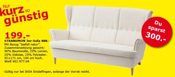 [IKEA Sindelfingen] STRANDMON 3-er Sofa für 199€