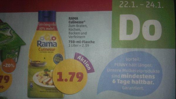 [Penny ab 22.01.15 bis 24.01.15] Rama Culinesse mit 50% mehr Inhalt für 1,79