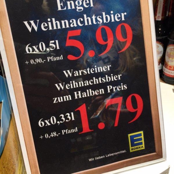 Warsteiner Weihnachtsbier 6x 0,33l für 1,79€ + 0,48€ Pfand @Edeka Böcker (Hamburg Hafen)