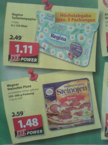 LOKAL - Oldenburg / Famila XXL (Wechloy) ab Montag: Regina Toilettenpapier (3lagig / 8 x 150 Blatt) für 1,11€; Wagner Steinofen Pizza 1,48€; ... & Famila Nordwest: Gillette Fusion Proglide Flexball ab 1,99€; Ritter Sport 0,57€; ...
