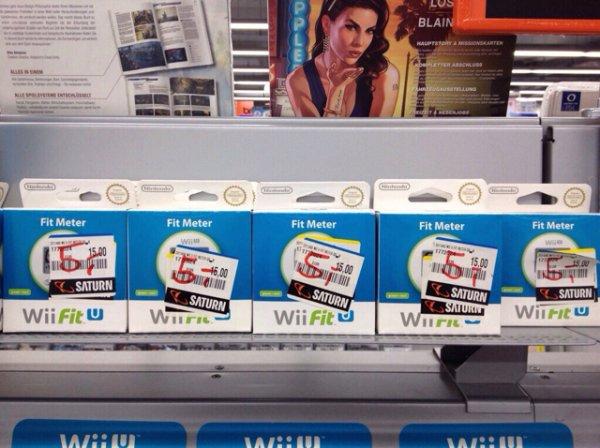 Wii U Fit Meter (verschiedene Farben) im Saturn Braunschweig für 5€
