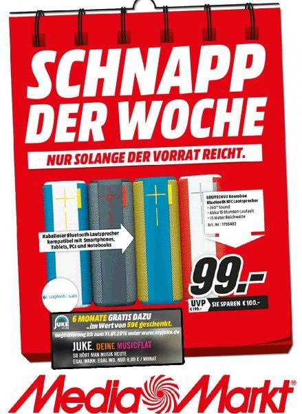 [Lokal Mediamarkt Porta Westfalica] Logitech UE Boombox + 6 Monate Juke Premium, Versand nach DE: 6,90€