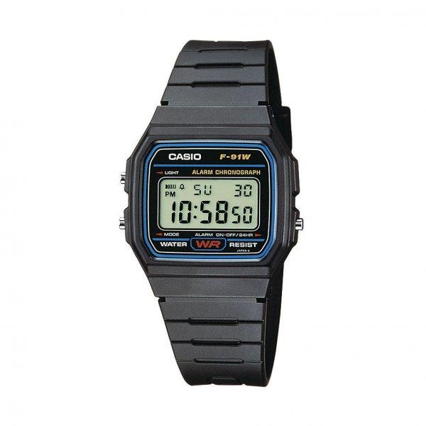 eBay - Casio Herren-Armbanduhr Digital Quarz F-91W-1YEF für 8,88€